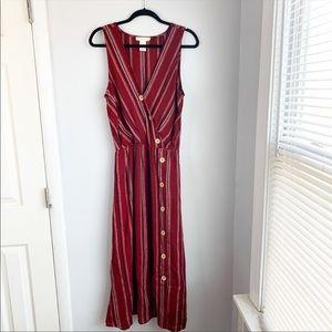 Red/Orange Maxi Dress Size Large